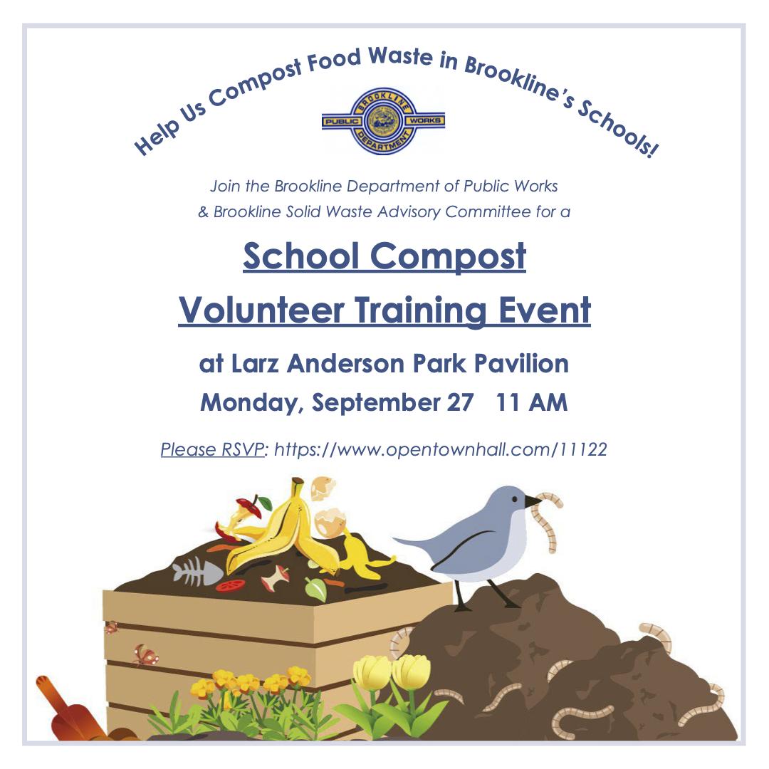 School Composting Training Event Flyer